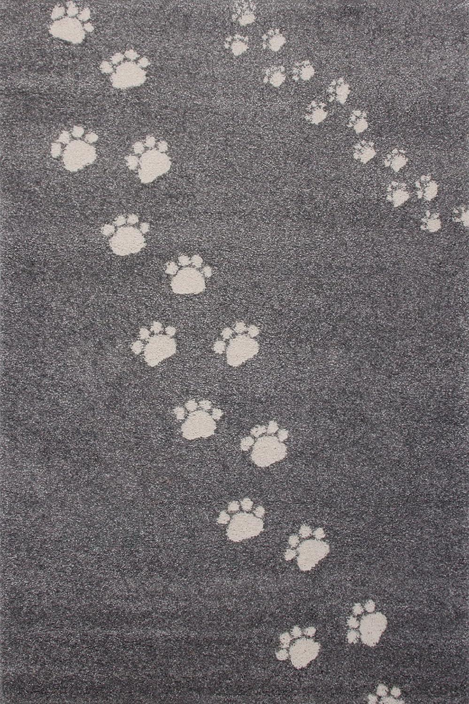 Art For Kids Qualität Label Öko-Tex Standard 100 Spuren Kinder Teppich, 100 Prozent Polypropylen, grau, 100 x 150 cm
