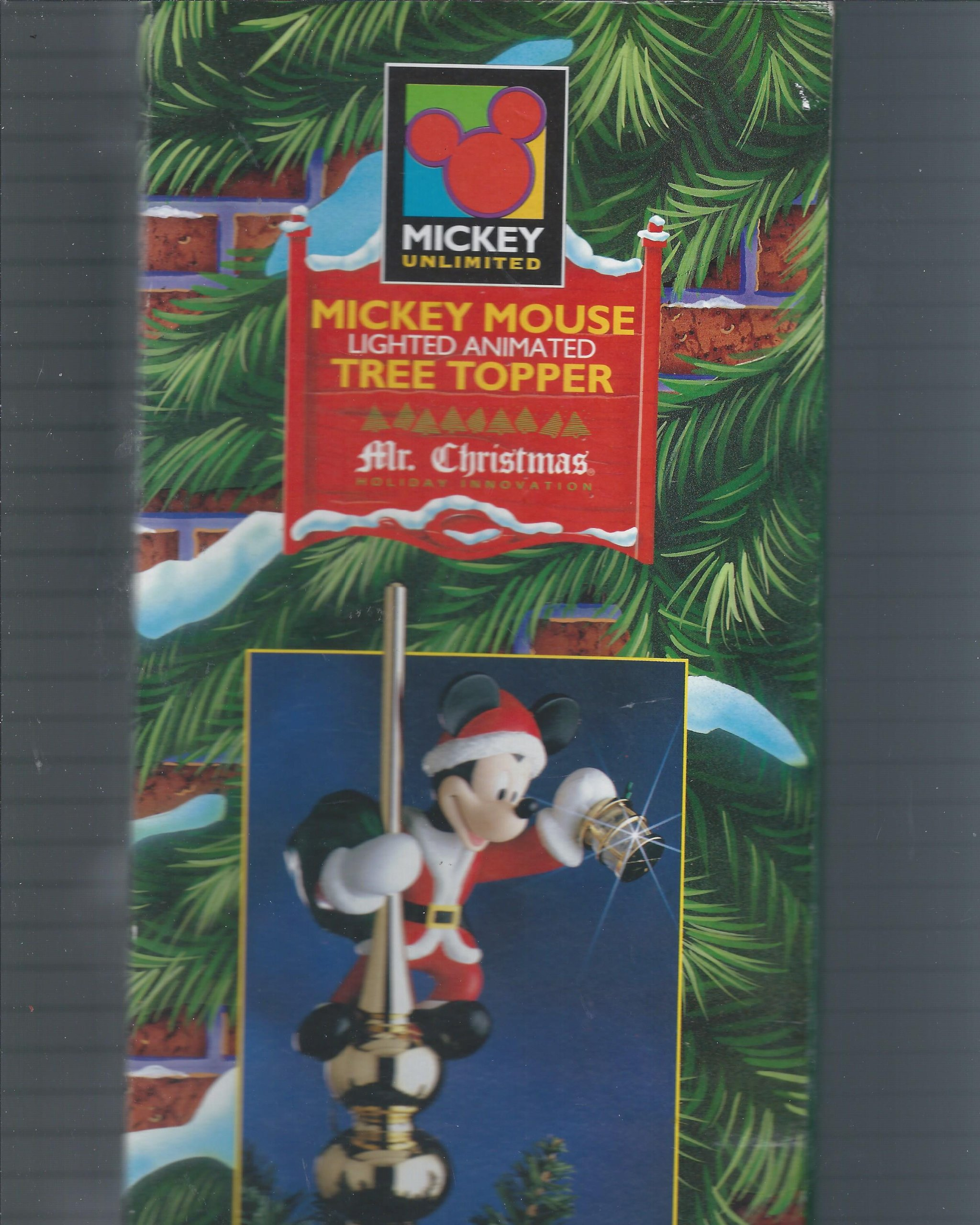 Mr Christmas Disney Mickey Mouse Animated Tree Topper