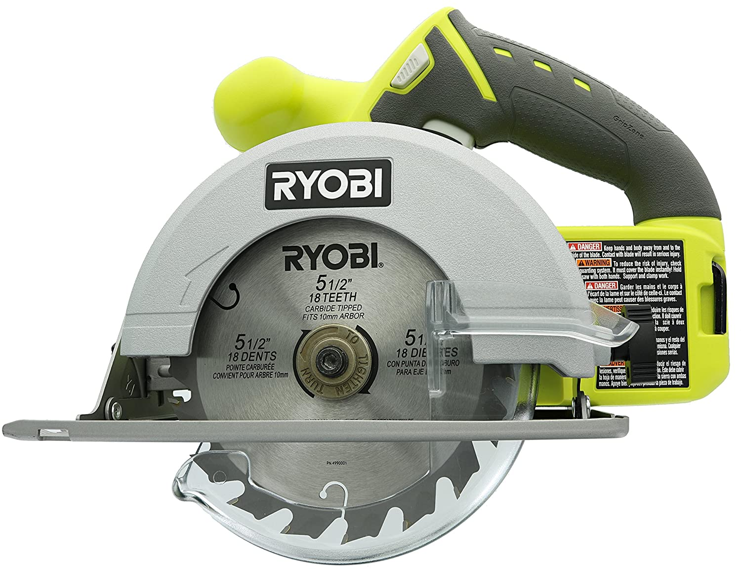 Ryobi p504g one 18 v lithium ion cordless 5 12 inch circular saw w ryobi p504g one 18 v lithium ion cordless 5 12 inch circular saw w carbide tip blade battery not included power tool only power circular saws greentooth Images