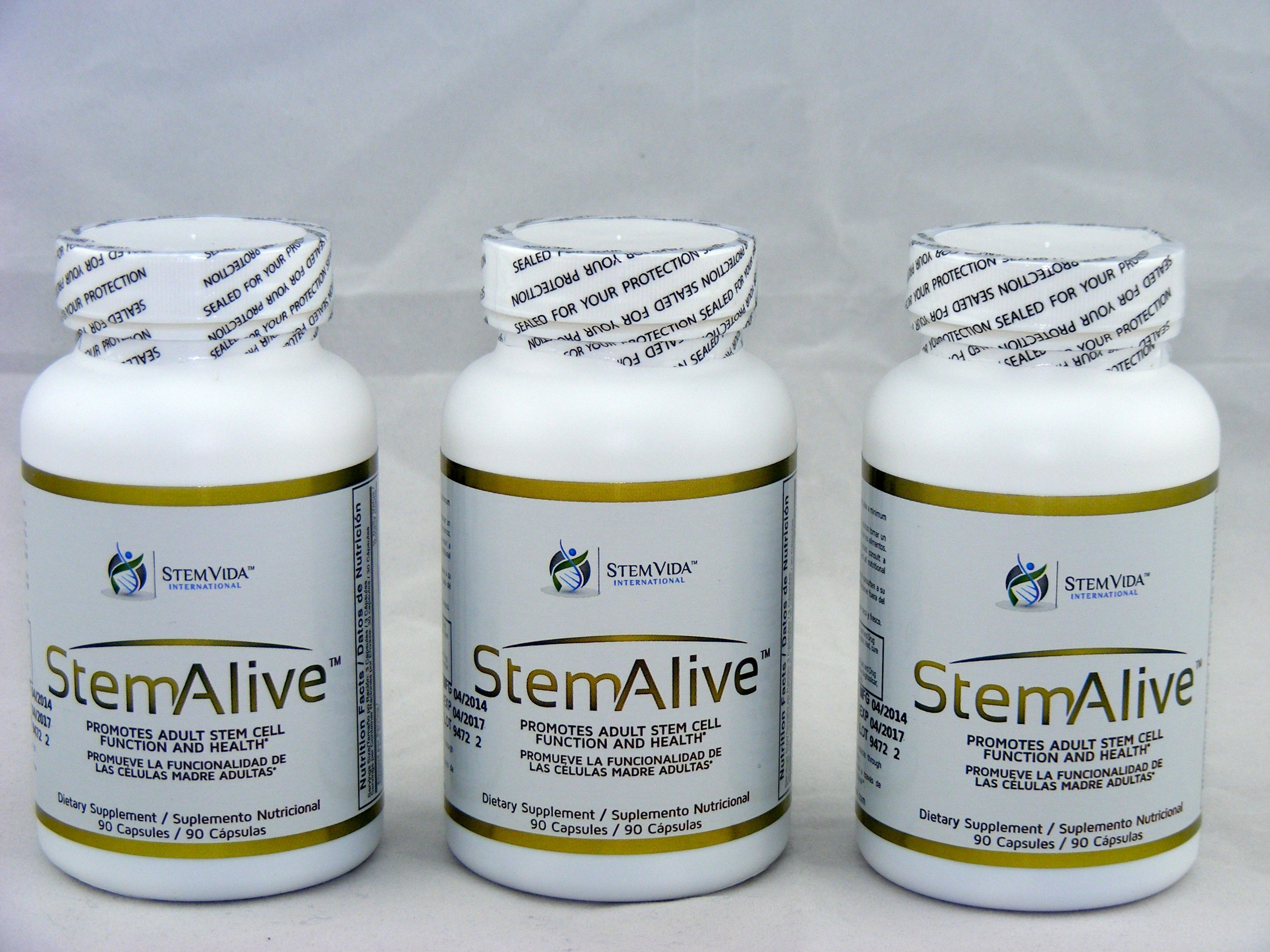 Stemstem Alive Supplements LOT of 3 New & Factory Sealedalive 90 Capsules
