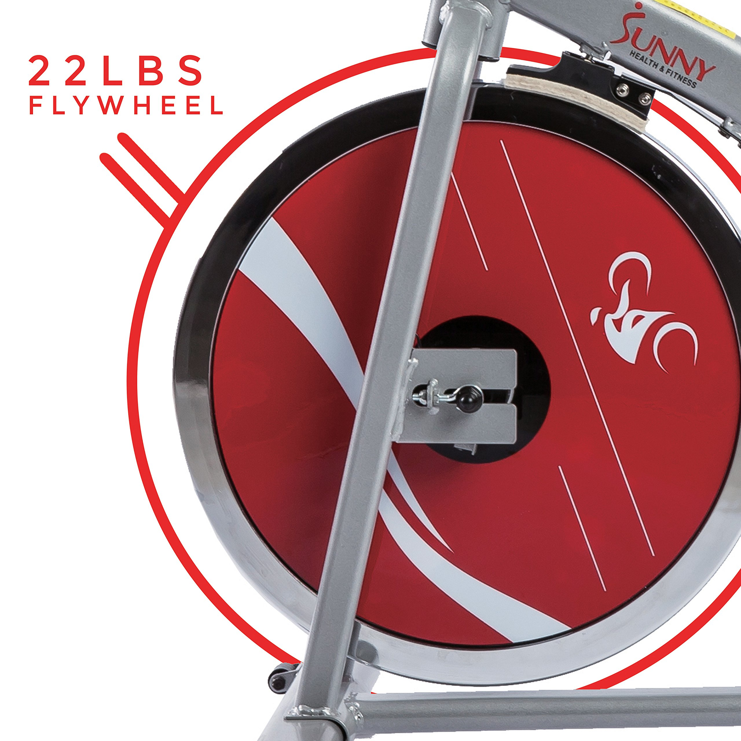 Sunny Health & Fitness Indoor Cycling Exercise Stationary Bike with Monitor and Flywheel Bike - SF-B1203 by Sunny Health & Fitness (Image #10)