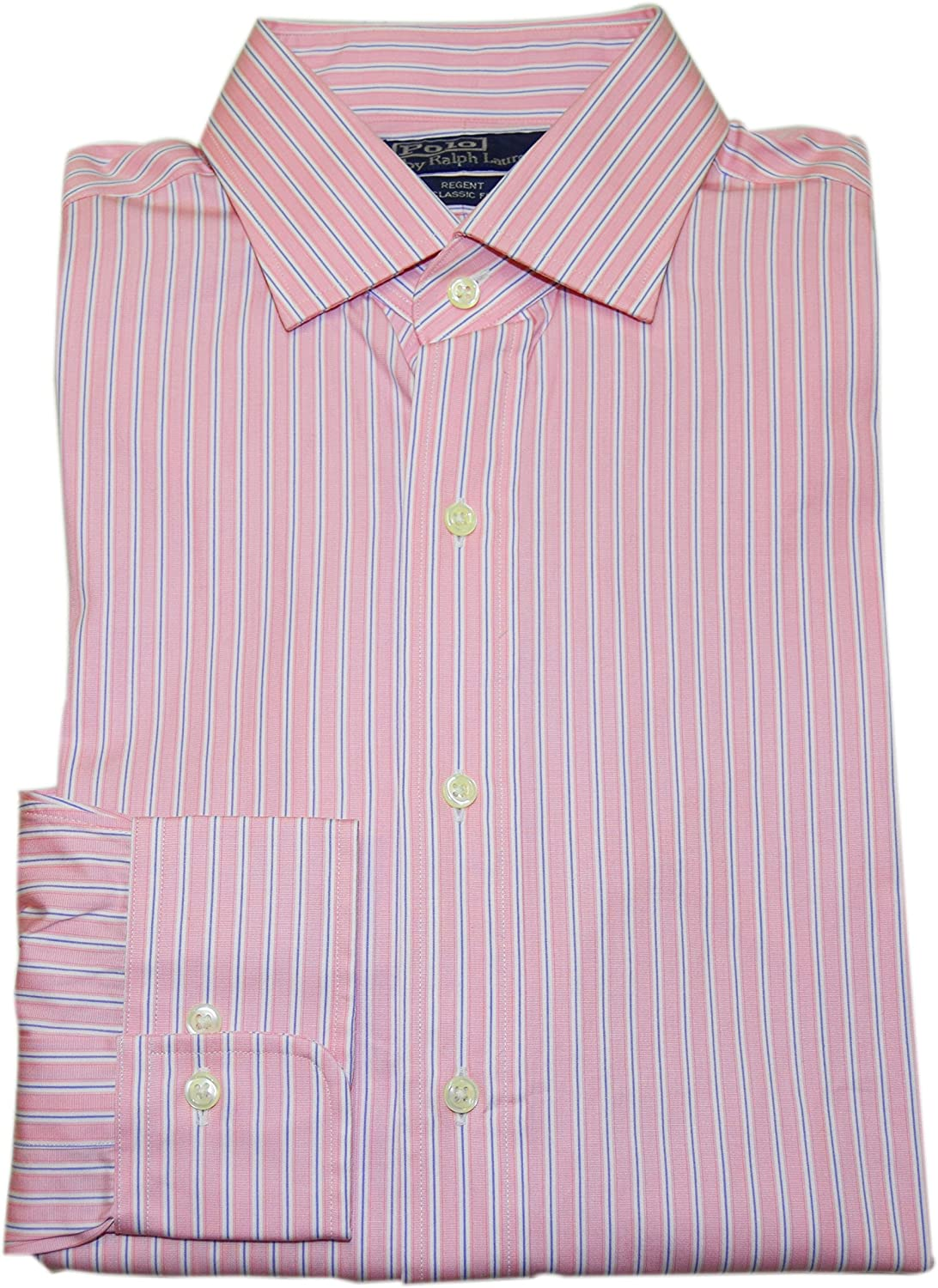 Polo Ralph Lauren Men/'s Regent Classic Fit Spread Collar Dress Shirt-Pink