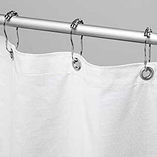 """product image for Bean Products Cotton Shower Curtain (White), [70"""" x 74""""] 