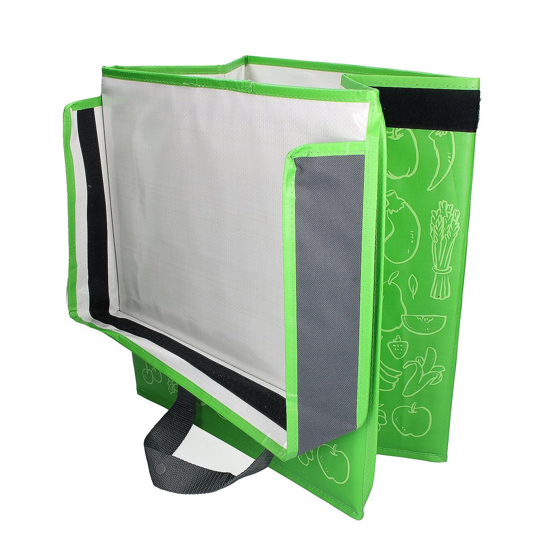elasto Faltbare K/ühltasche Fresh Faltbox f/ür Lebensmittel Shopper Tasche Gr/ün Faltbare Tasche BPA-Frei 11 Liter