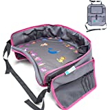 Kids Travel Tray   Bundle with   Bonus Back Seat Car Organizer by Moditty ? Activity Play Table.