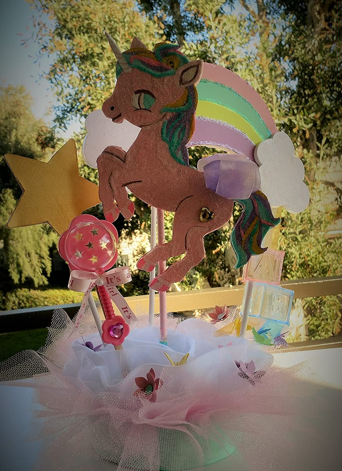 Amazon Com Unicorn Baby Shower Centerpiece Unicorn Party