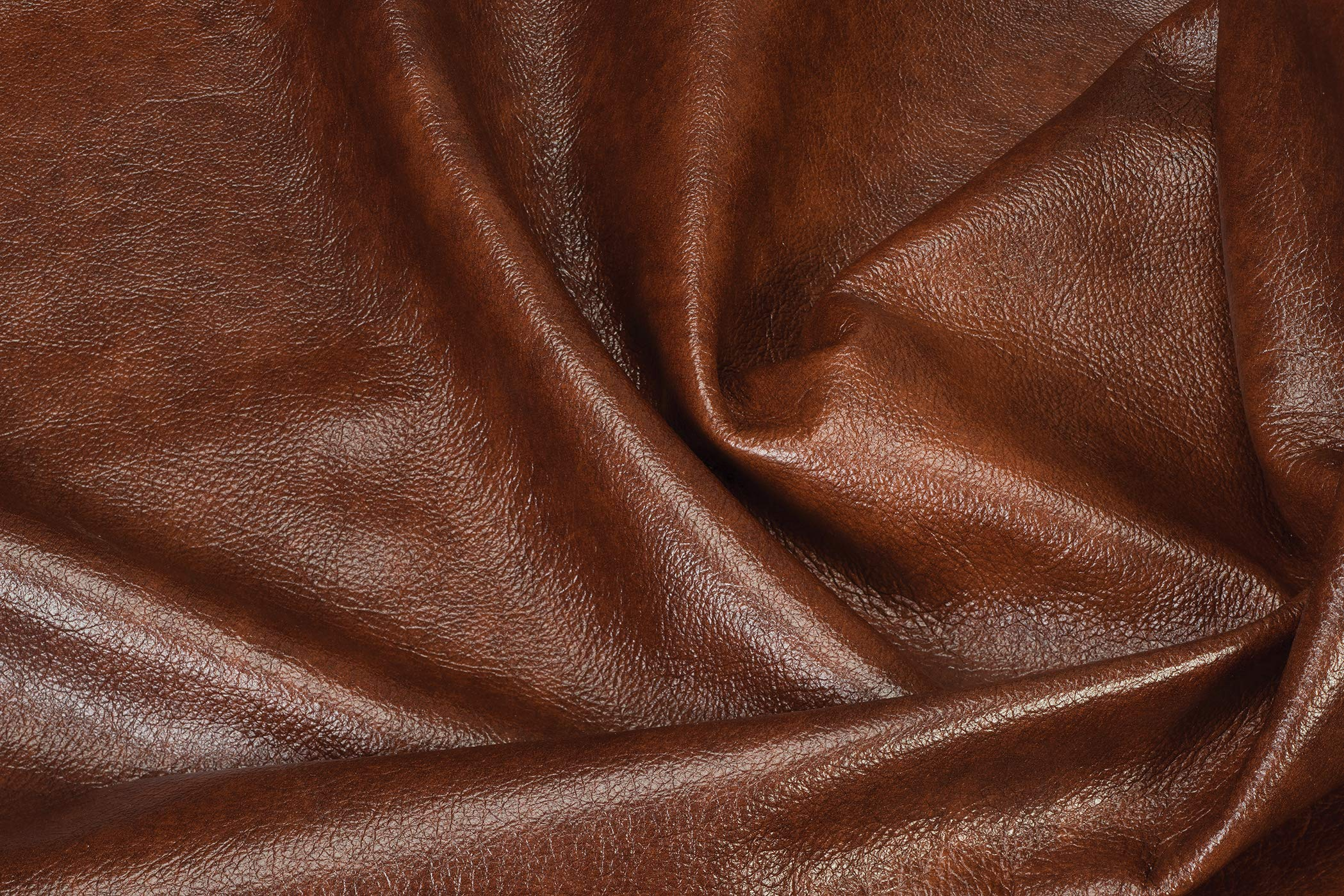 Whole Hide Upholstery Leather, Burnt Whiskey