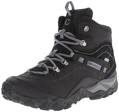778751d85d2710 Merrell Women's Chameleon Shift Traveler Mid Waterproof Hiking Boot, Black,  ...