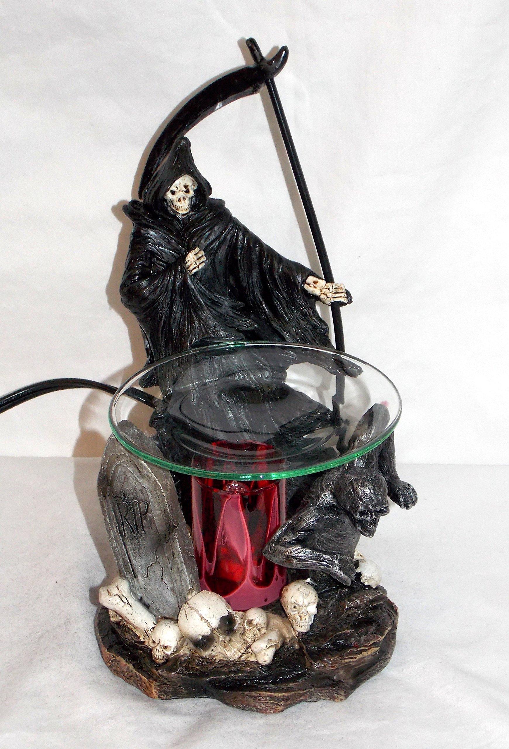New Grim Reaper In Skull Graveyard Fragrance Oil Burner Tart Warmer With Dimmer by Grim Reaper in Graveyard Oil Burner Warmer (Image #2)