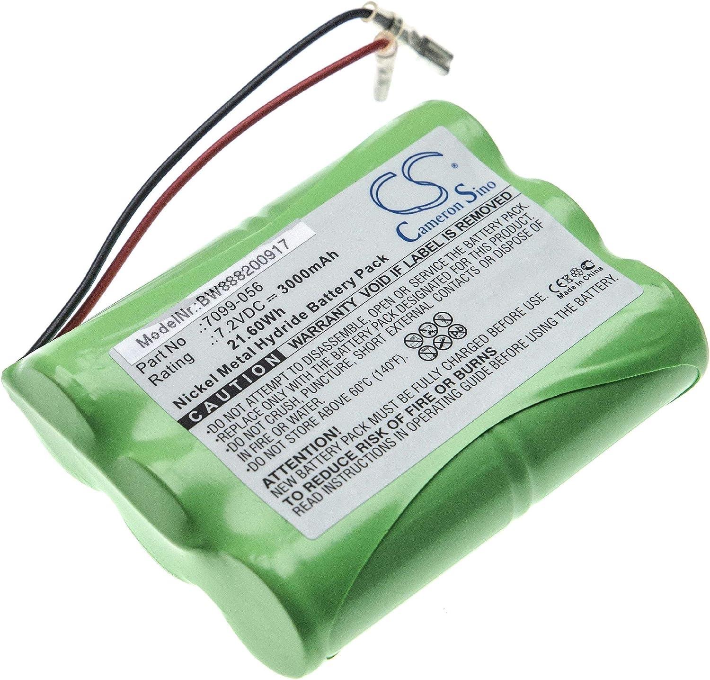 vhbw batería reemplaza Wolf-Garten 7099-056 para herramienta eléctrica (3000mAh, 7.2V, NiMH)
