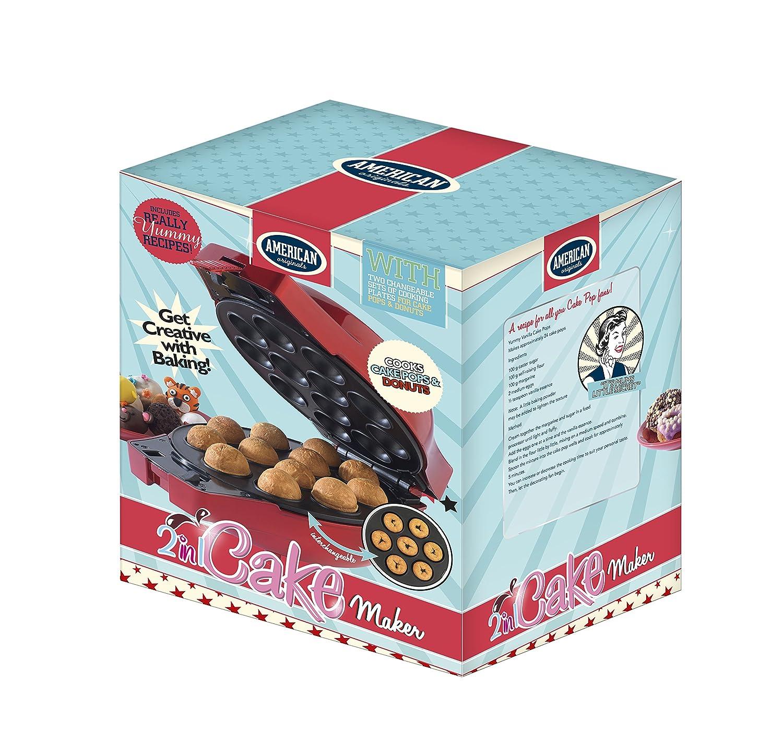 American Originals EK1883 Fun Cooking 2-in-1 Cake Pop and Donut Dessert  Maker: Amazon.co.uk: Kitchen & Home