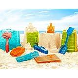 Battat – Sand Toys for Kids – 11pc Sandcastle Building Kit with Sand Molds and Shovel – Outdoor Sandbox Toys – Sand Castle Pl