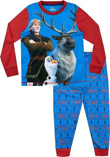 Frozen Pijamas de Manga Larga para niños El Reino del Hielo