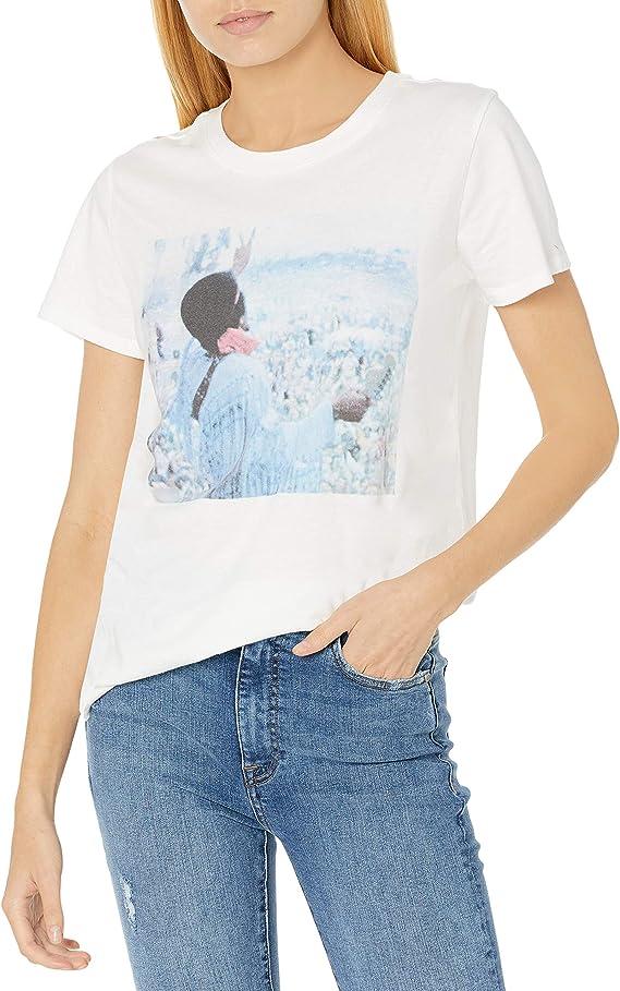 Choose SZ//color Details about  /Lucky Brand Women/'s Short Sleeve Neck Ac//Dc Crew T
