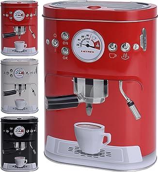 Tarro para café con diseño de máquina espresso,para monodosis, café en polvo, cacao o azúcar, Weiss, Klein: Amazon.es: Hogar