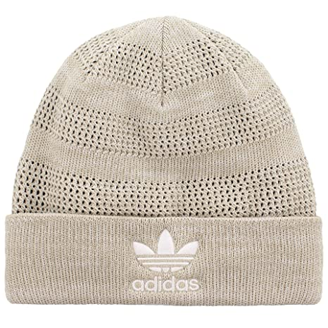 new style 2d3e1 ffa7d ... discount code for adidas mens weave stripe knit beanie one size sesame  light grey 3bd1c 69dad