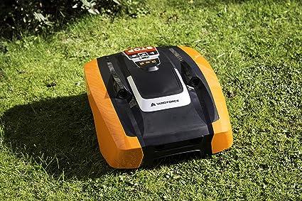 YARD FORCE AMIRO 400i Robot cortacésped AMIRO400i tecnología de Sensor ultrasónico de Seguridad Activa para césped de hasta 400m² con WiFi y Control ...