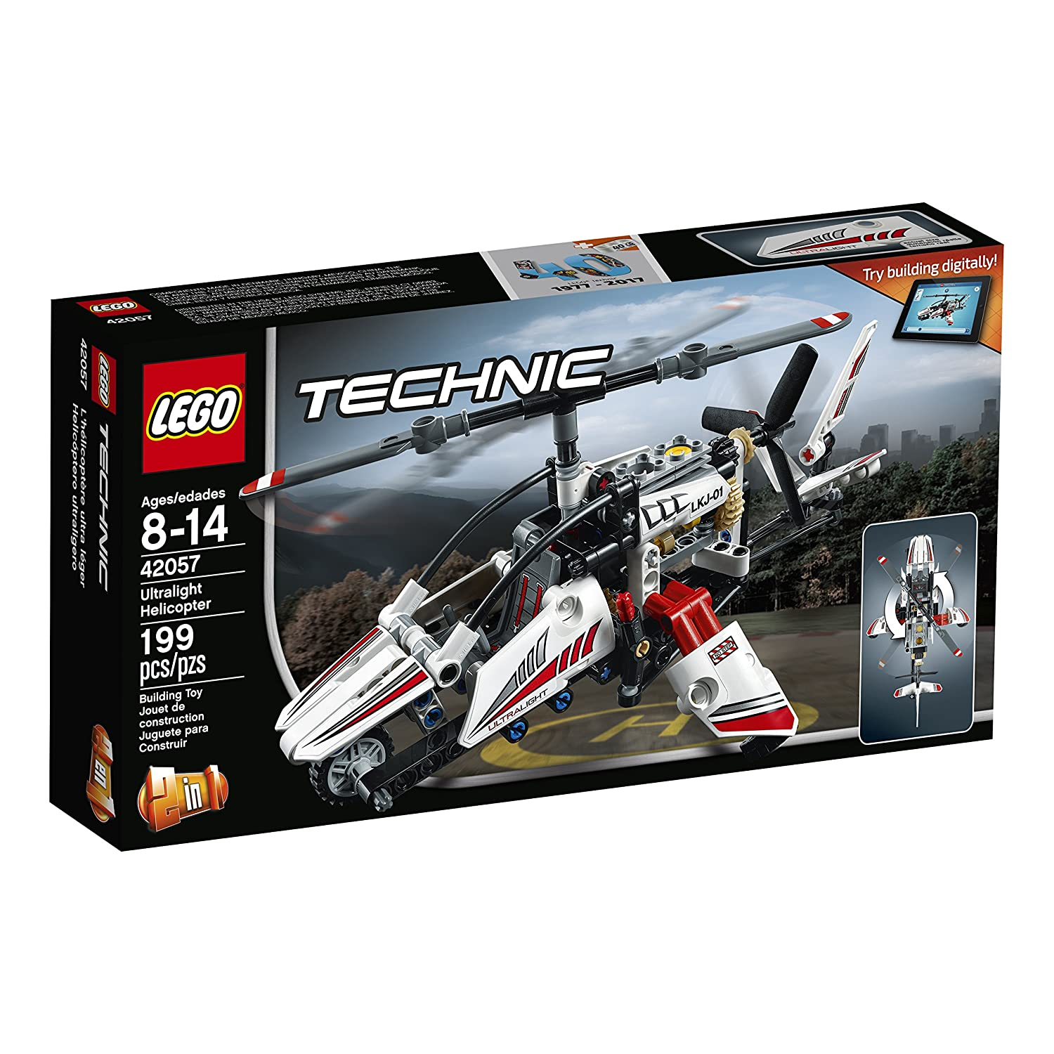 LEGO Technic Ultralight Helicopter 42057 Advance Building Set 6175666