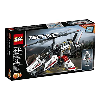 Amazon.com: LEGO Technic Ultralight Helicopter 42057 Advance ...
