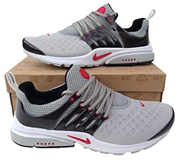Nike Air Presto Grey Black Red Womens Trainers Shox Shoes ... Sizes 5.5- d78369cfcb