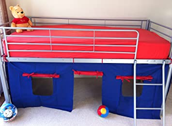 UNDER BED BLUE/RED TENT ONLY SUITABLE FOR MID SLEEPER CABIN BED & UNDER BED BLUE/RED TENT ONLY SUITABLE FOR MID SLEEPER CABIN BED ...