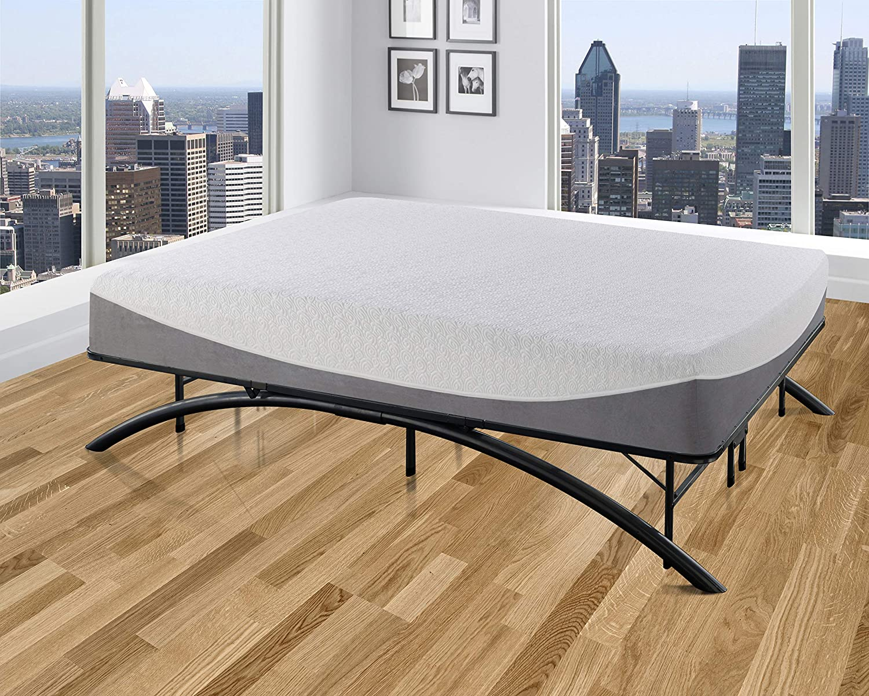 Boyd Sleep Arched Platform Bed Frame Metal Mattress Foundation, Black, Twin