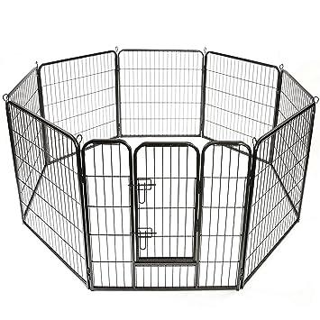 TRESKO® Parc enclos pour chiot, Vaste enclos, Parc à chien ...