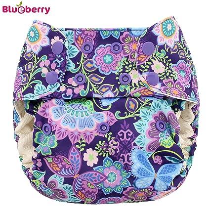 Blueberry Simplex One Size (AIO) plástico pañales – Butterfly Garden (druc Grava)