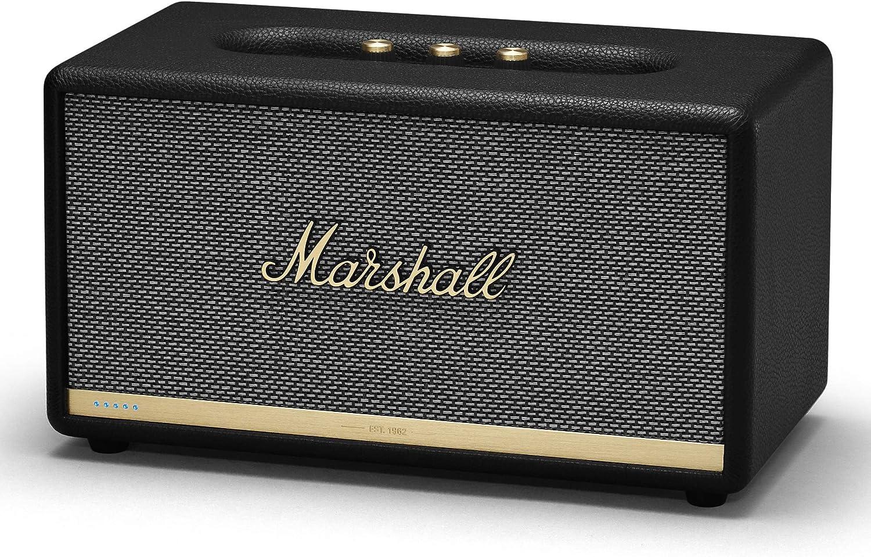 Marshall Stanmore II Voice 80 W Altavoz Portátil Estéreo Negro - Altavoces Portátiles (2.0 Canales, 80 W, 50-20000 Hz, 101 dB, Inalámbrico y ...