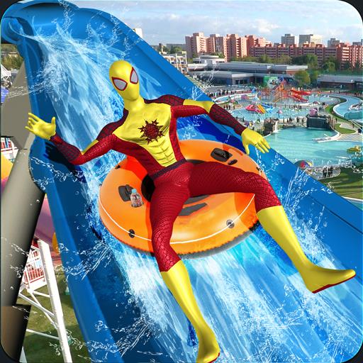 Superhero water Slide Amusement Park Adventure ()