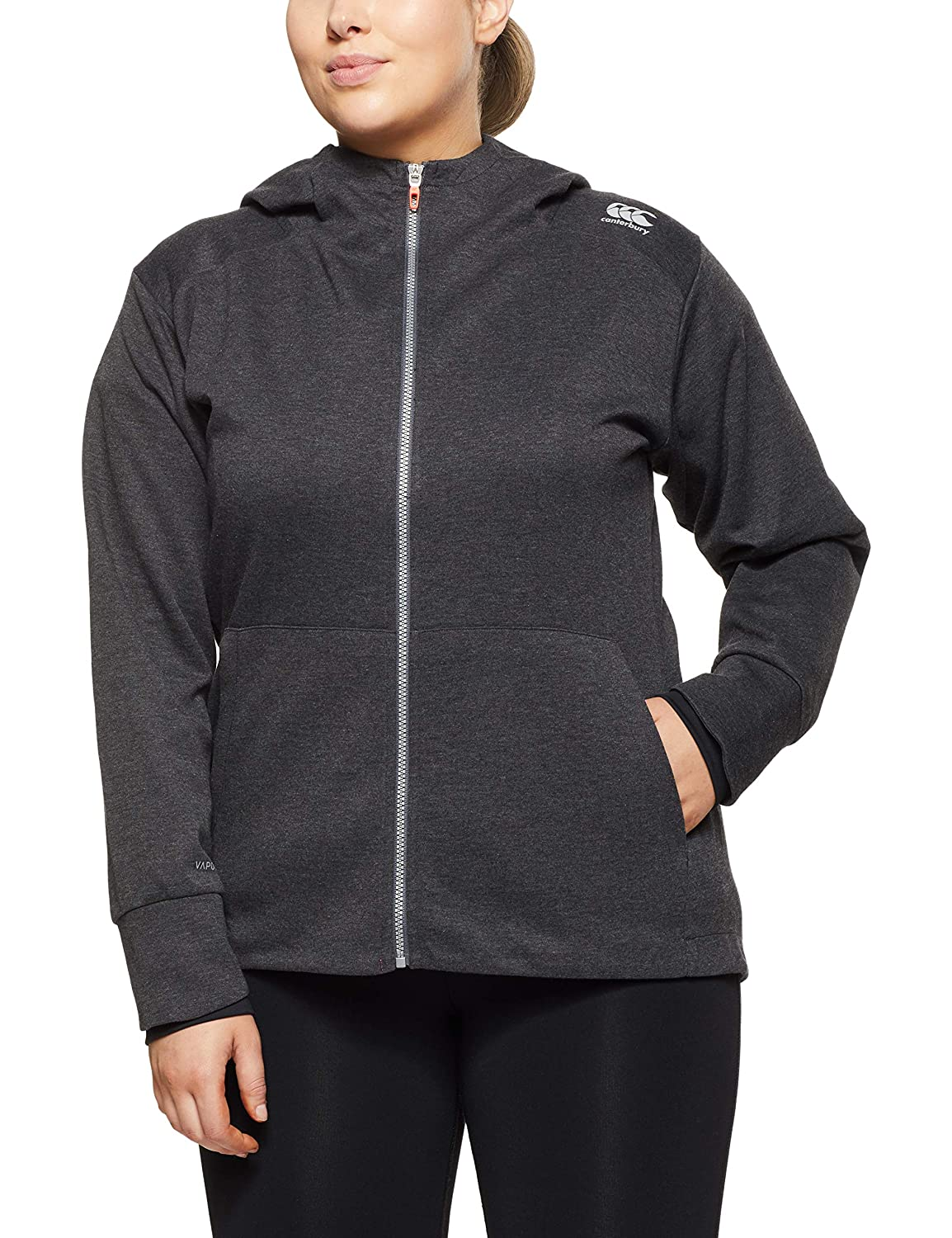 TALLA 10. Canterbury Vaposhield Zip Through Sudadera con Capucha, Mujer