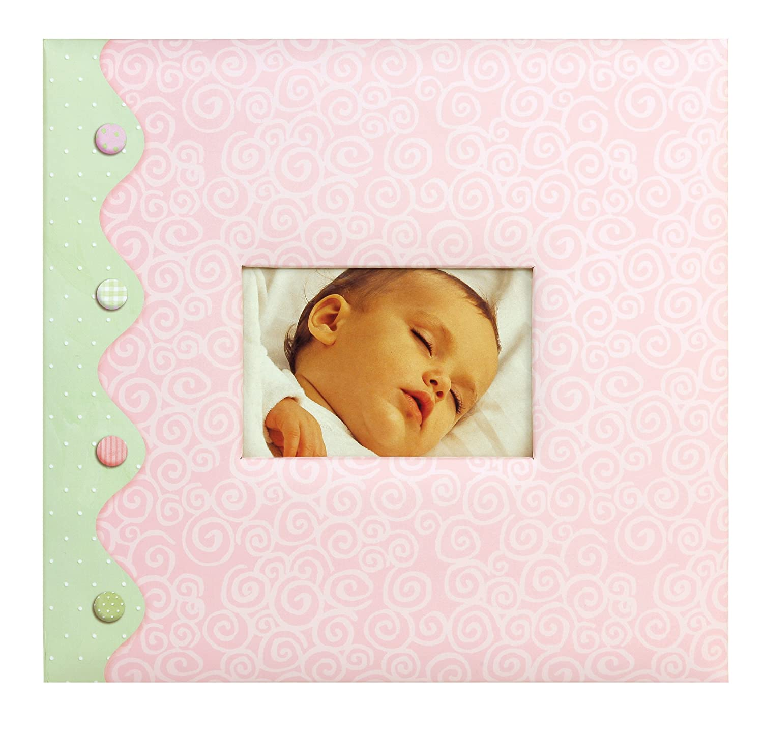 "C.R. Gibson Complete Scrapbook Kit  20 Illustrated Pages and 10 Protective Page Sleeves  Measures 12"" x 12"" - Little Pond Baby Girl CR. Gibson ST12PD-6890"