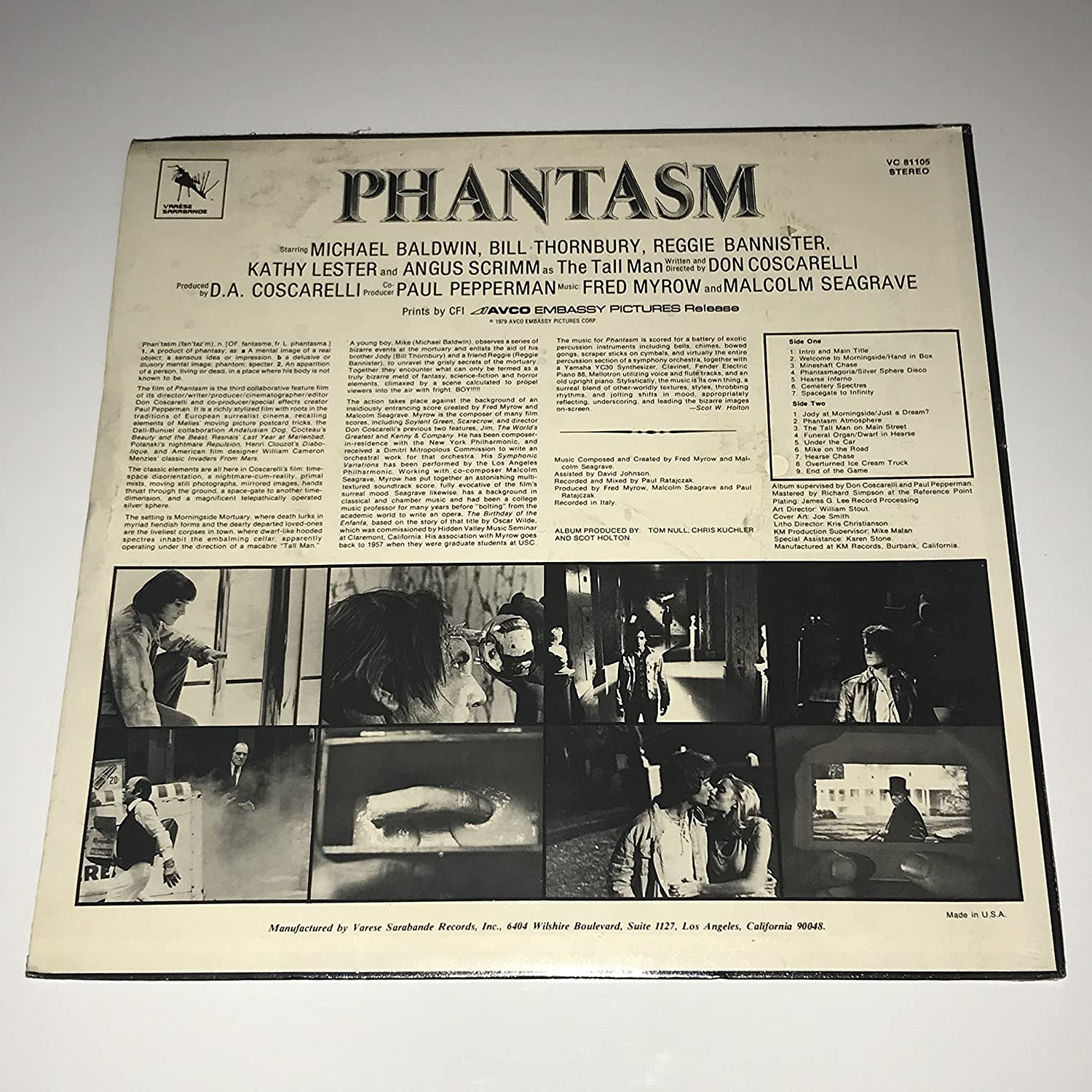 Fred Myrow, Malcolm Seagrave - Phantasm - Amazon.com Music