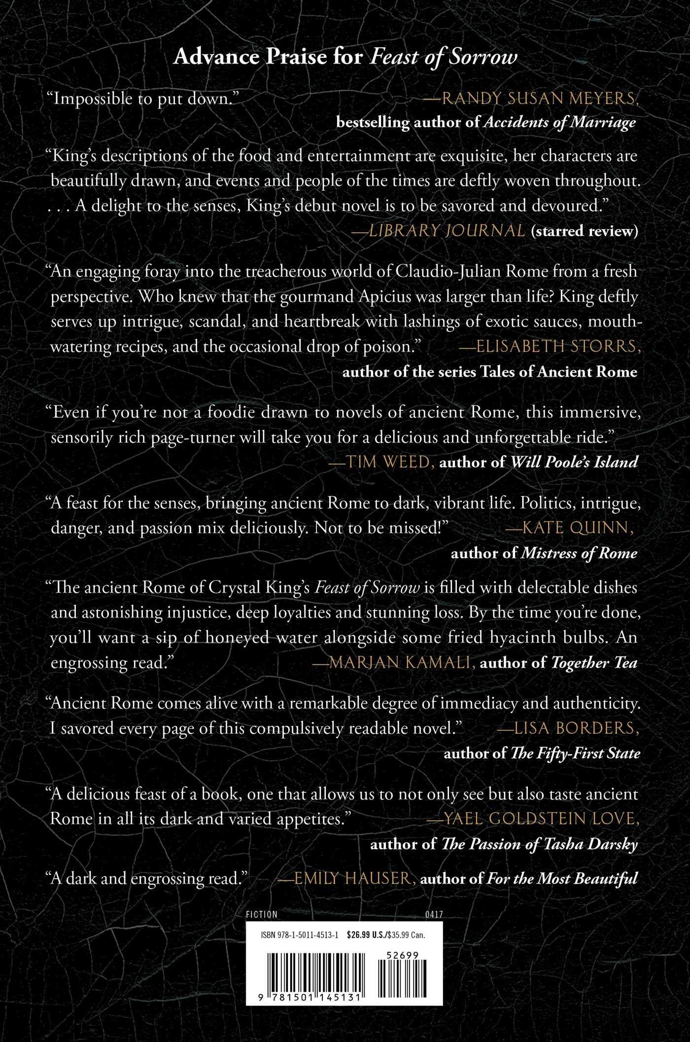 Amazon: Feast Of Sorrow: A Novel Of Ancient Rome (9781501145131):  Crystal King: Books