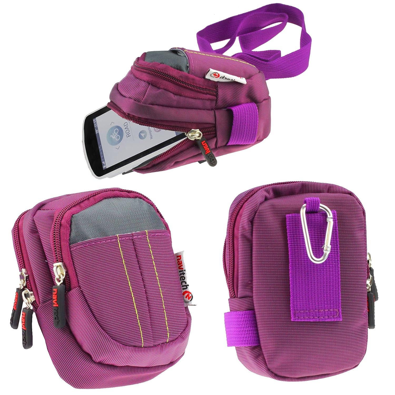 Navitech Étui Rigide/Housse Violet pour Garmin Etrex Touch 25/35 / Oregon 700 / Edge Explore/Edge 130