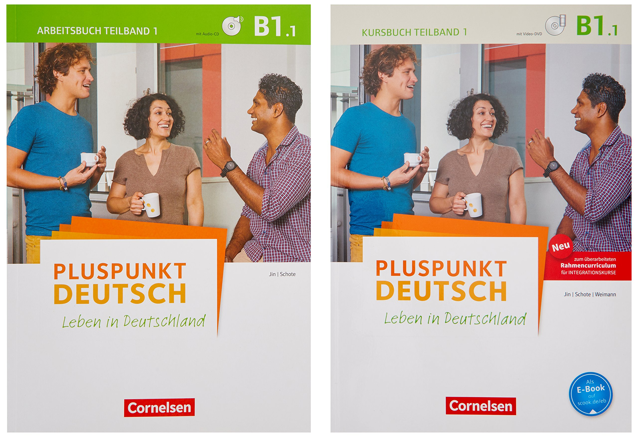 Pluspunkt Deutsch - Leben in Deutschland - Allgemeine Ausgabe: B1: Teilband 1 - Arbeitsbuch und Kursbuch: 120773-1 und 120581-2 im Paket