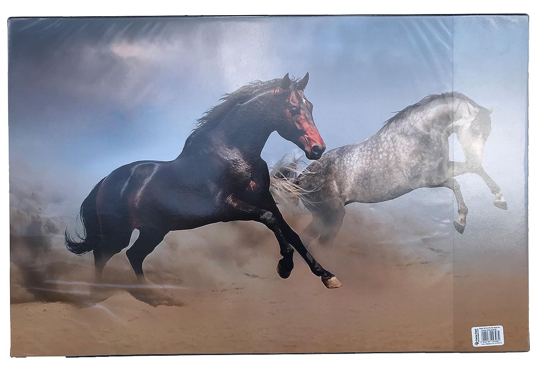 """68x44cm Schreibtischunterlage /""""Pferde/"""" Größe"""