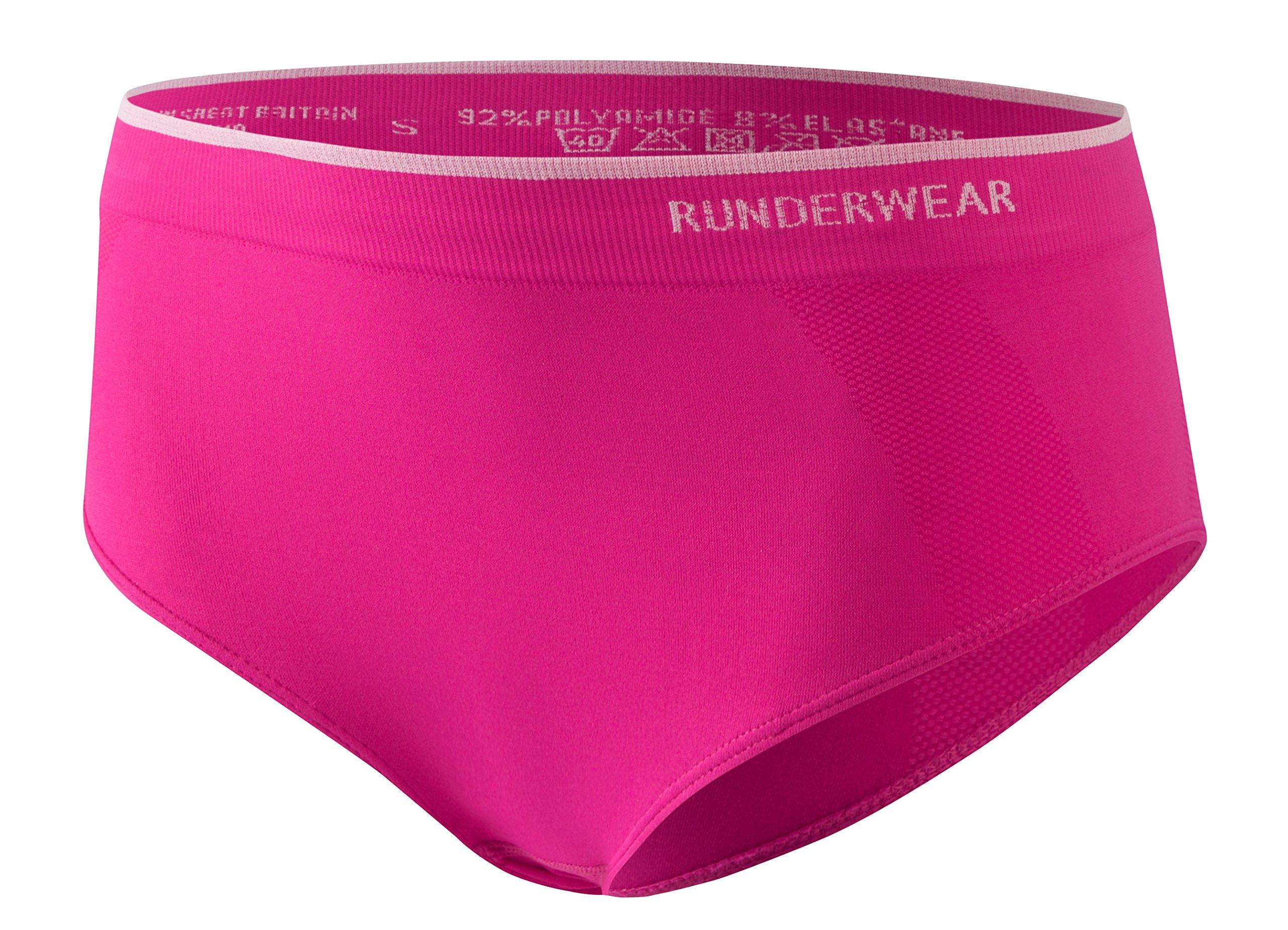 Runderwear Women's Low-Rise Seamless Hipster - Pink, Medium