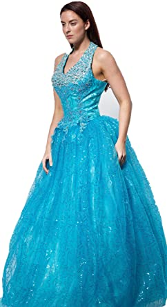 WT01 PINK BLUE SIZE 8-18 Evening Dresses party full length prom gown ball dress