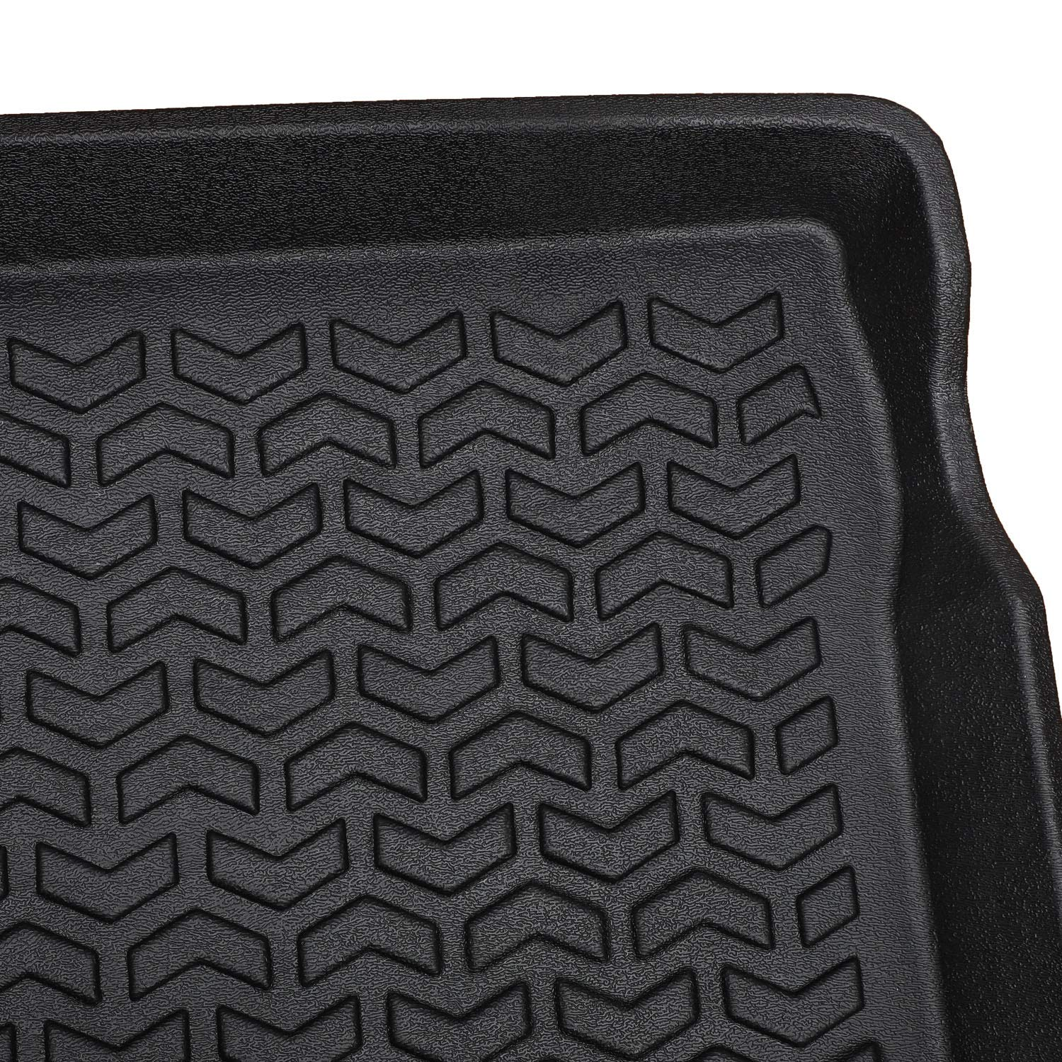 E-cowlboy Cargo Liner Cargo Tray Mat for Jeep Wrangler JL 2018~2020 Black Rubber Trunk Floor Mat Custom Fit All Weather Odorless Unlimited 4-Door