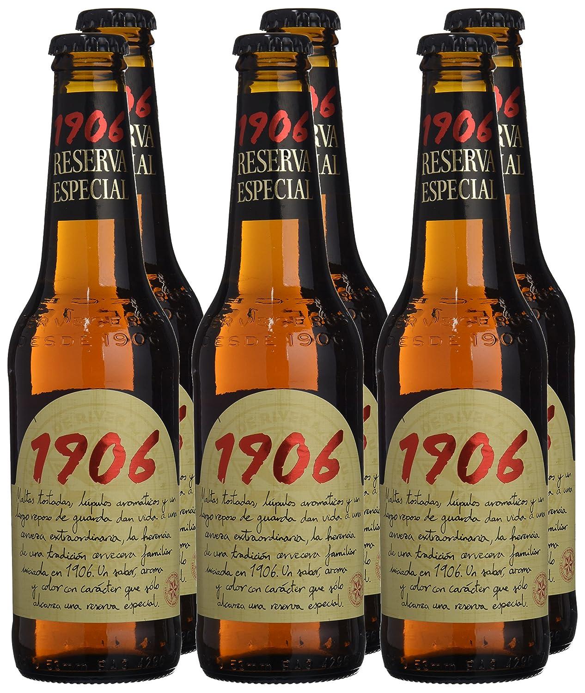 1906 - Cerveza Reserva Especial - Pack de 6 botellas de 33 cl: Amazon.es: Alimentación y bebidas