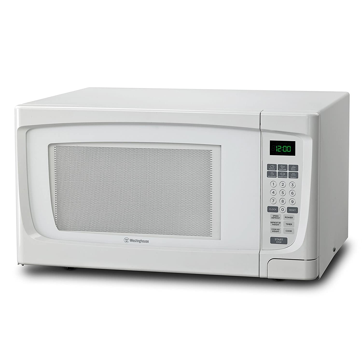 Westinghouse WCM16100W 1000 Watt Counter Top Microwave Oven, 1.6 Cubic Feet, White Cabinet