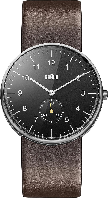 Braun - Reloj analógico de Caballero de Cuarzo con Correa de Piel