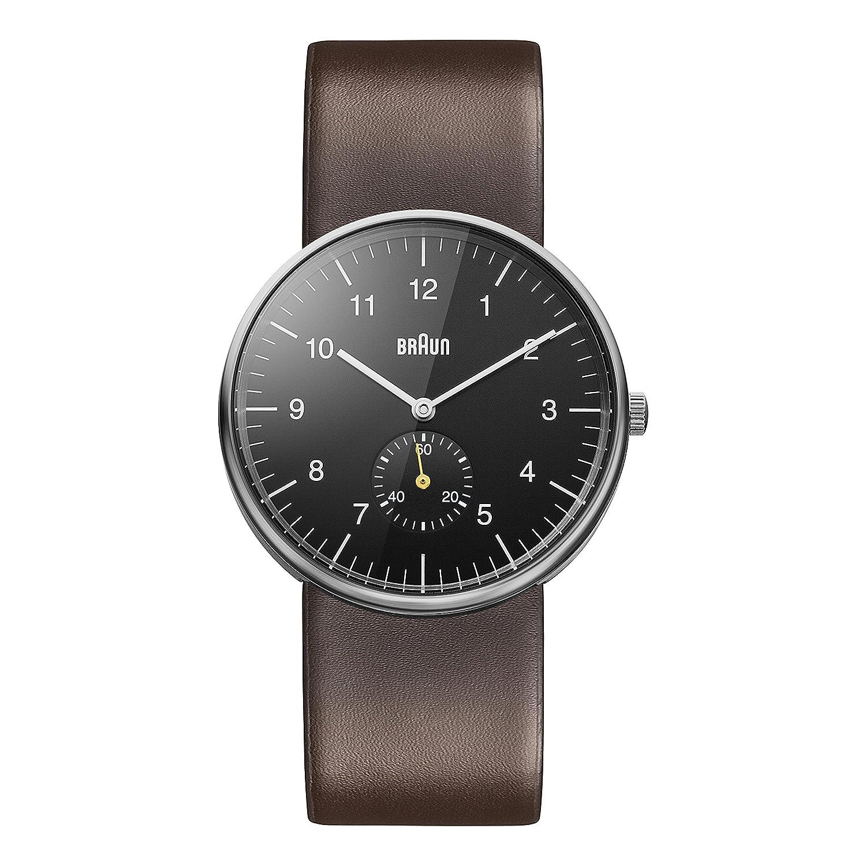 Braun Unisex-Armbanduhr BN0024BKBRG Analog Quarz Leder BN0024BKBRG