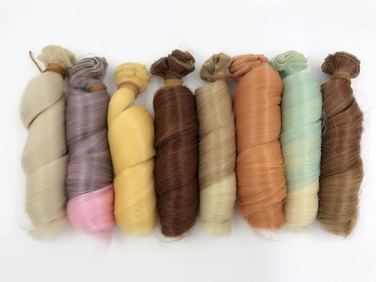 A Set Of 12 Color SD Doll DIY Straight Hair 15cm100cm BJD/- For Arts and Crafts, Doll Making, and More Xing-Rui