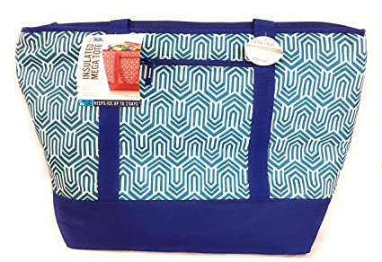 California Innovations 12 Gallon Insulated Mega Tote: for Frozen Food, Perishables and Hot Food (Red Pattern)
