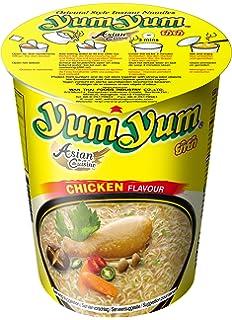 Yum Yum Instant Noodles Cup Chicken - Paquete de 12 x 70 gr - Total: