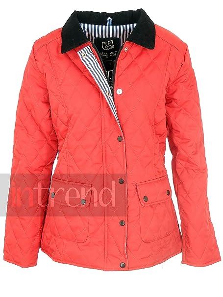 Señoras acolchado chaqueta botón cremallera chaqueta Mujer chaqueta acolchada: Amazon.es: Ropa y accesorios