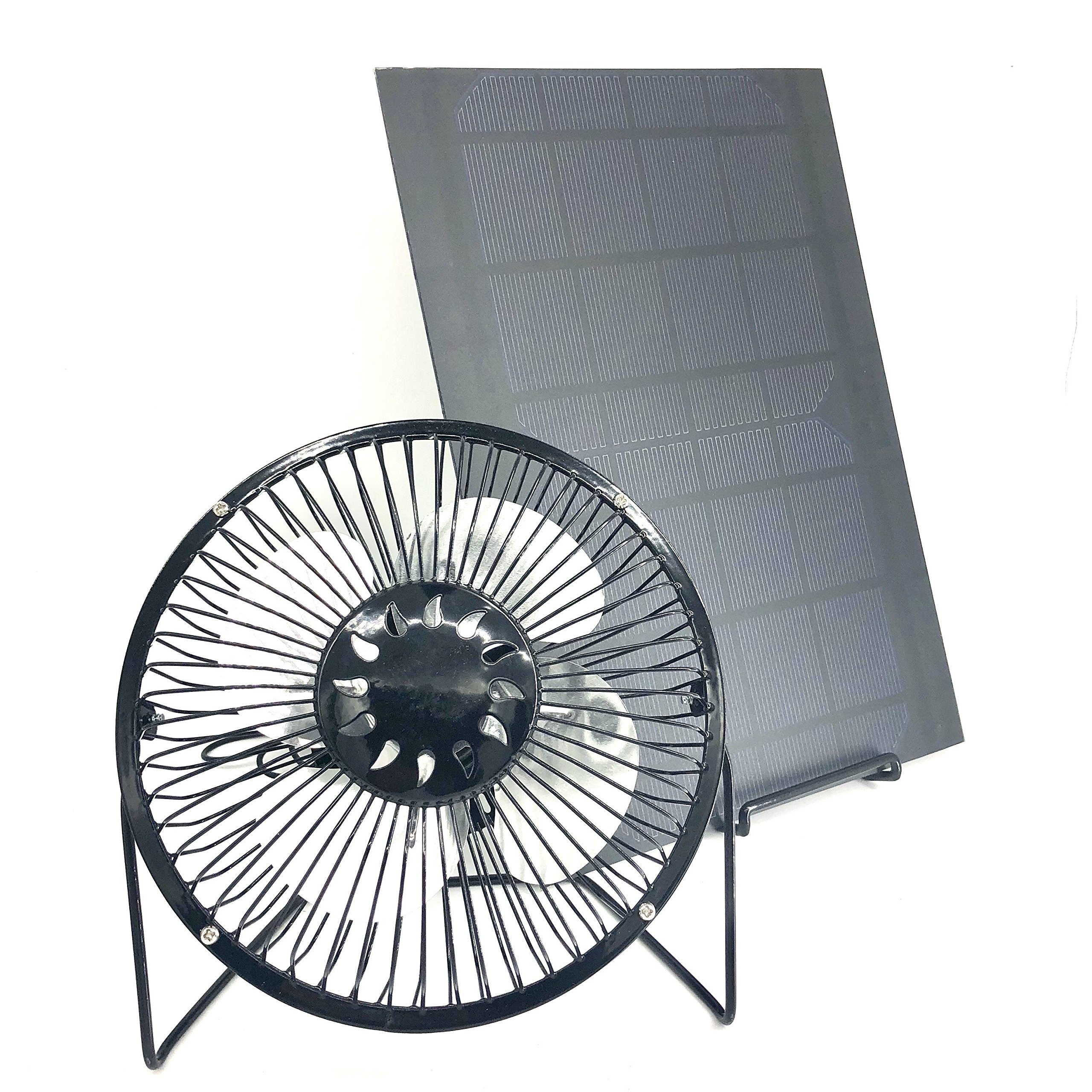 Solar Fan PET 10w 6inch with Iron Holder Powered Fan Ventilation Caravan Camping