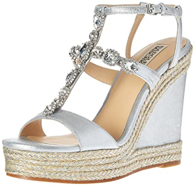 Badgley Mischka Jewel-Embellished Espadrille Wedges websites online wholesale online free shipping prices cheap prices VkWHUdaGR2